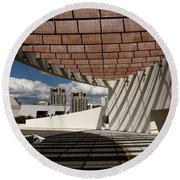 Modern Architecture Of Ismaili Centre Entrance With Aga Khan Mus Round Beach Towel