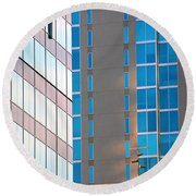 Modern Architecture Photography Round Beach Towel