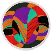 Modern Art 2 Round Beach Towel