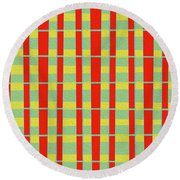 Modern Art 25 Round Beach Towel