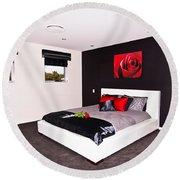 Modern Bedroom Round Beach Towel