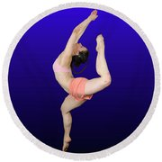 Modern Dancer  Round Beach Towel