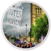 Modern Day Suffrage Round Beach Towel