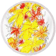 Modern Drawing Fifty-five Round Beach Towel