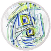 Modern Drawing Forty Round Beach Towel
