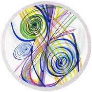 Modern Drawing Thirty-seven Round Beach Towel