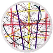 Modern Drawing Twelve Round Beach Towel