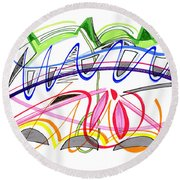 Modern Drawing Twenty-five Round Beach Towel