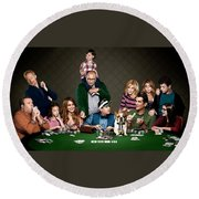 Modern Family Round Beach Towel