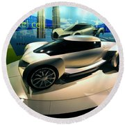 Modern Fuel Cell Car Round Beach Towel
