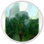 Modern Hotel Of Old Florida Round Beach Towel
