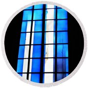 Modern Johannes Schreiter Window Mainz 2 Round Beach Towel