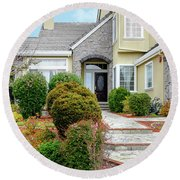 Modern Suburban House Hayward California 32 Round Beach Towel