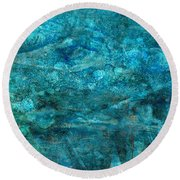 Modern Turquoise Art - Deep Mystery - Sharon Cummings Round Beach Towel