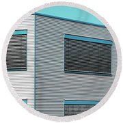 Modern Walls And Windows Furth Germany Round Beach Towel