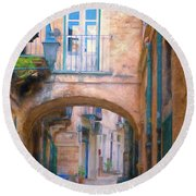 Modica Street Round Beach Towel