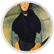 Modigliani: Woman, 1918 Round Beach Towel