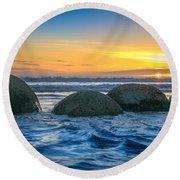 Moeraki Sunrise Round Beach Towel