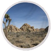 Mohave Desert Round Beach Towel