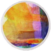 Mohave Round Beach Towel