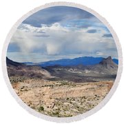 Mojave Desert Route 66 Round Beach Towel