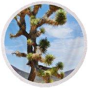 Mojave Joshua Tree Round Beach Towel