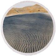 Mojave Kelso Dunes Portrait Round Beach Towel