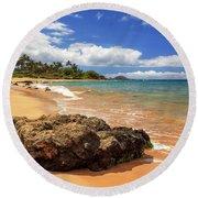 Mokapu Beach Maui Round Beach Towel