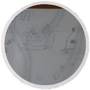 Mold Party Round Beach Towel