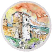 Molina De Aragon Spain 02 Round Beach Towel