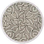 Mollet Design For A Parterre Round Beach Towel