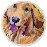 Molly Round Beach Towel by Pat Saunders-White