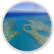 Molokai, Aerial Round Beach Towel