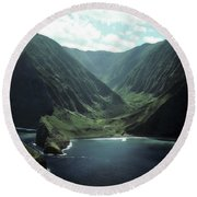 Molokai Valley Round Beach Towel