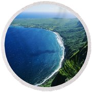 Molokai, View Round Beach Towel