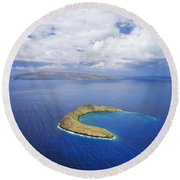 Molokini Aerial Round Beach Towel