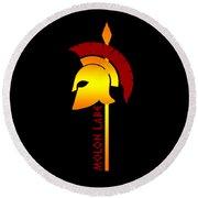 Molon Labe Spartan Helmet Warrior Spear Round Beach Towel