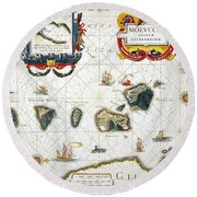 Moluccas: Spice Islands Round Beach Towel