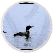 Mom And Baby Loon Round Beach Towel