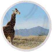 Moment Of Independence Round Beach Towel