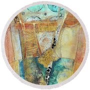 Moments In The Middle 3 Round Beach Towel by Kate Word