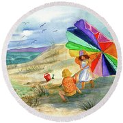 Moments To Remember Round Beach Towel