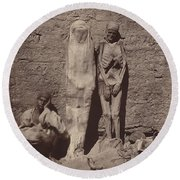 Momies Egyptiennes (egyptian Mummies) Round Beach Towel