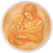 Mommy And Me Round Beach Towel