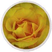 Moms Yellow Rose Round Beach Towel