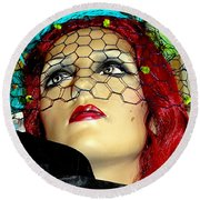 Mona In Mourning Round Beach Towel
