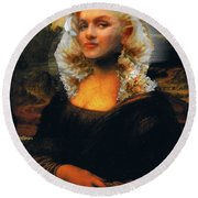 Mona Marilyn Round Beach Towel