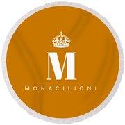 Monacilioni Corona Round Beach Towel