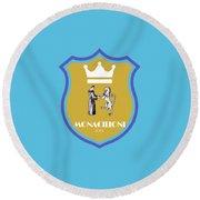 Monacilioni Yellow Crown Round Beach Towel