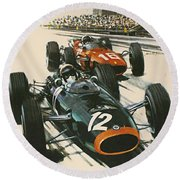 Monaco Grand Prix 1967 Round Beach Towel